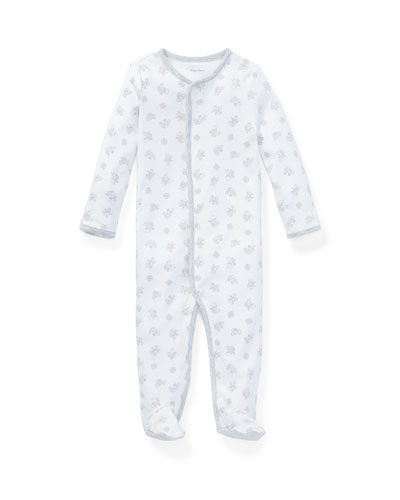 ee3a1c3ab20 Printed Interlock Footie Pajamas