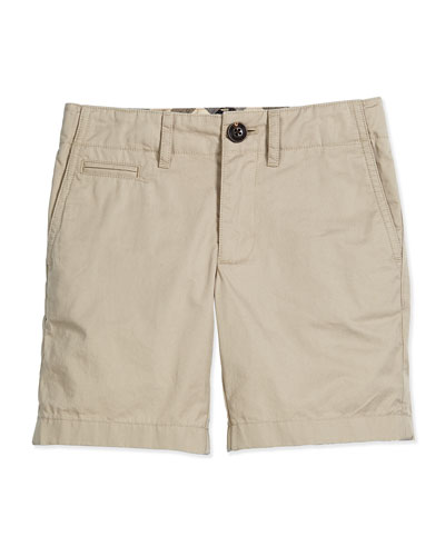 Tristen Cotton Chino Shorts, Taupe, Size 4-14