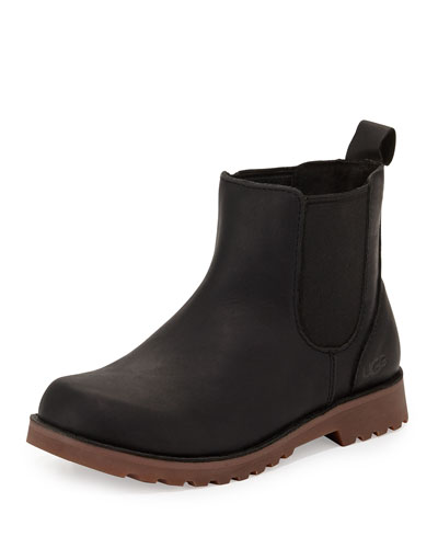 Callum Leather Chelsea Boot, Black, Youth