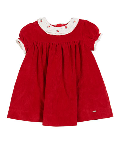 Mayoral Cap-Sleeve Polka-Dot A-Line Dress, Size 3-24 Months