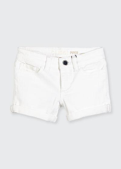 Girls' Piper Cuffed Denim Shorts, Griffon, Size 7-16