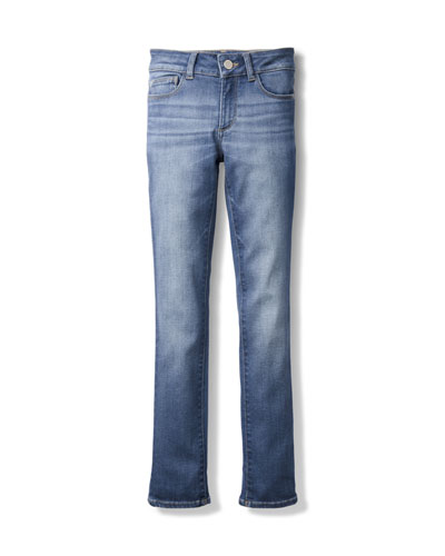 Girls' Chloe Skinny Mid-Rise Faded Jeans, Size 7-16