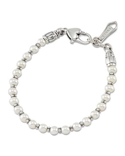 Kinder Sterling Silver Pearl Bracelet