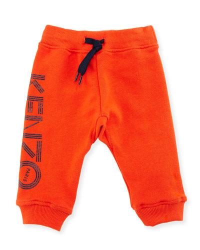 Boris Jersey Logo Track Pants, Red, Size 2-4