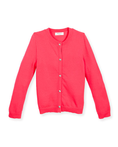 Soft Button-Front Cardigan, Size 4-7
