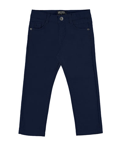 Slim-Fit Stretch Denim Jeans, Blue, Size 3-7