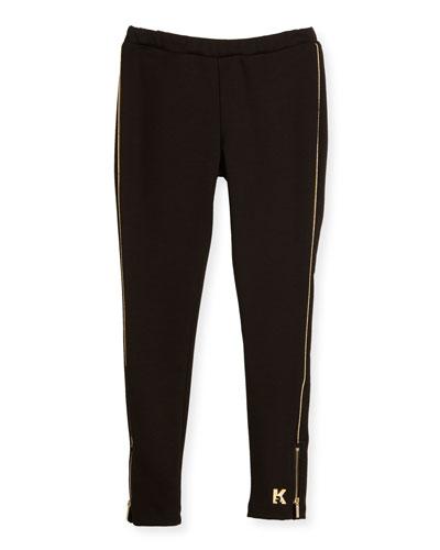 Milano Piped Ponte Leggings, Black, Size 6-10