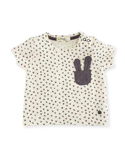 Creedence Stretch Jersey Bunny Tee, Gray, Size 6-24 Months