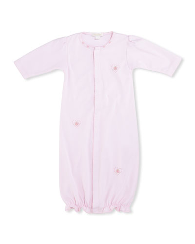 Heart to Heart Convertible Sleep Gown, Pink, Size Newborn-Small