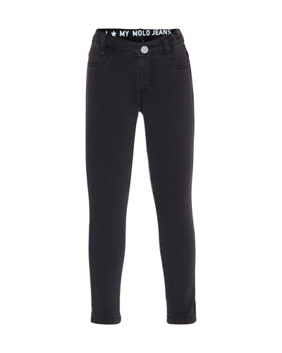 Aida Skinny Jeans, Black, Size 4-14