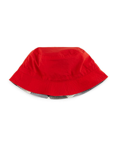 Girls' Channing Twill Bucket Hat, Red