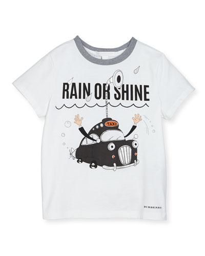 Rain or Shine Cotton T-Shirt, White, 4Y-14Y