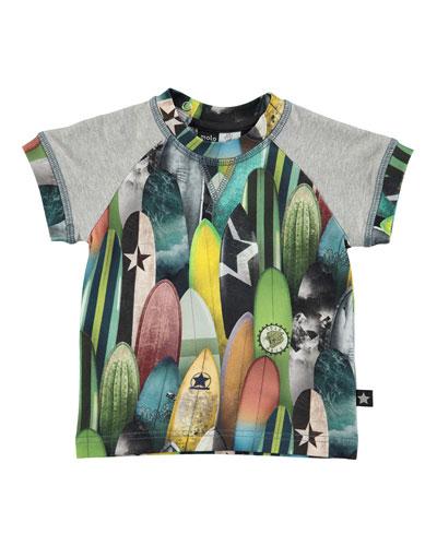 Eton Surfboard Jersey Tee, Gray/Multicolor, Size 12-24 Months
