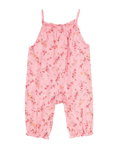 Anishali Sleeveless Floral Romper, Multicolor, Size 3-18 Months