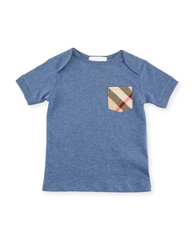 Callum Short-Sleeve Jersey Tee, Size 6M-3Y