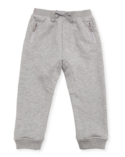Phill Cotton Track Pants, Gray, Size 6M-3T