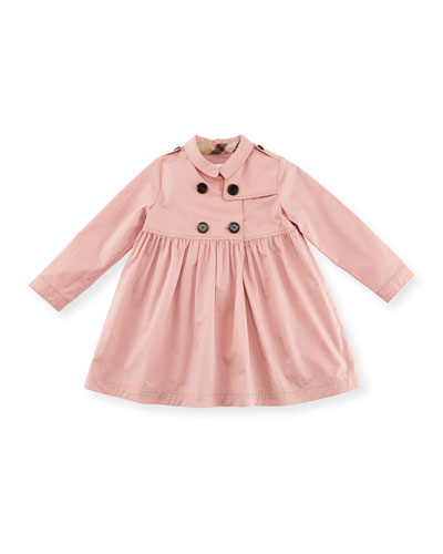 Lillybeth Double-Breasted Coat, Rose, Size 2