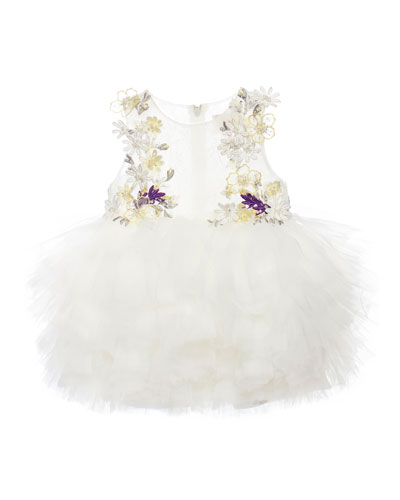Fair Love Tulle Dress, White, Size 1-3