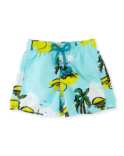 Jim Mini Moke Printed Swim Trunks, Boys' 2-8
