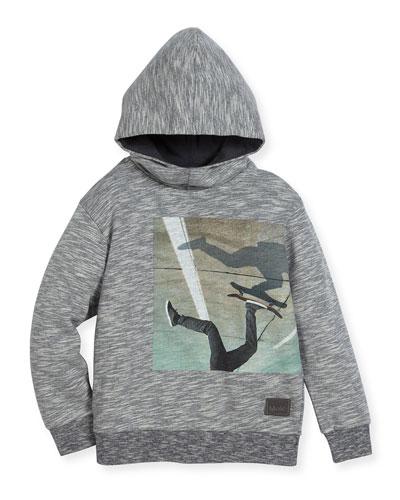 Maximo Hooded Skater Sweatshirt, Gray, Size 4-12