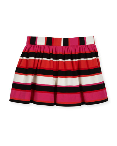 coreen striped skirt, red/multi, size 2-6