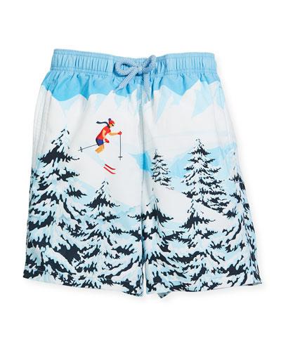 Jipa Ski Resort Swim Trunks, Size 10-12