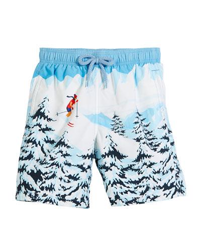 Jipa Ski Resort Swim Trunks, Size 2-8