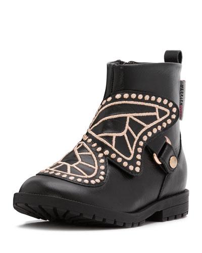 Karina Leather Boot, Black, Toddler/Youth