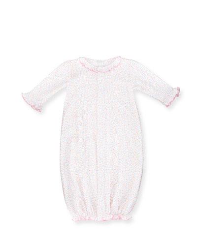 Darling Dachshunds Convertible Pima Sleep Gown, Pink, Size Newborn-Small