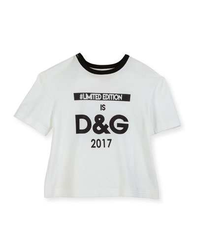 Limited Edition Logo Print Tee, Size 4-6