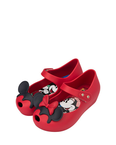 Ultragirl + Disney® Twins II Mary Jane Flat, Red, Toddler