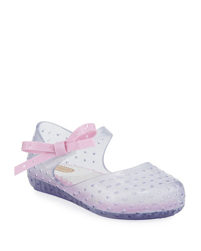 Perforated Mary Jane Flat w/ Bow, Pink, Toddler