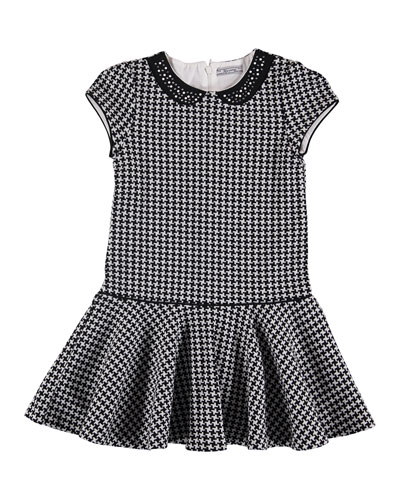 Houndstooth Cotton Dress, Size 8-16