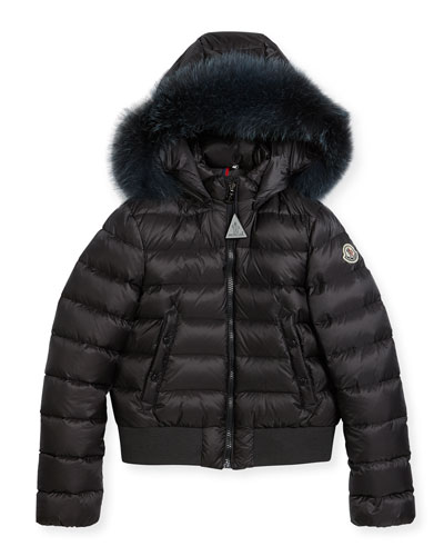 New Alberta Quilted Coat w/ Fur Trim, Size 8-14