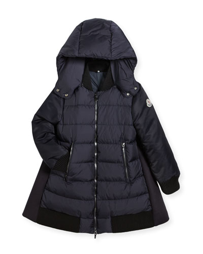 Blois Quilted and Wool-Blend Puffer Jacket, Size 4-6