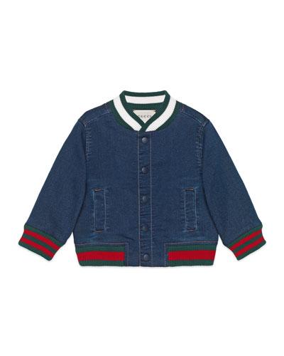 Denim Bomber Jacket, Size 9-36 Months