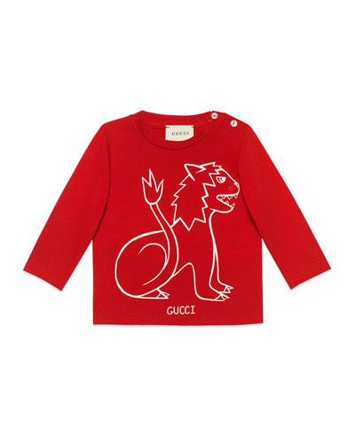 Long-Sleeve Lion T-Shirt, Size 6-36 Months