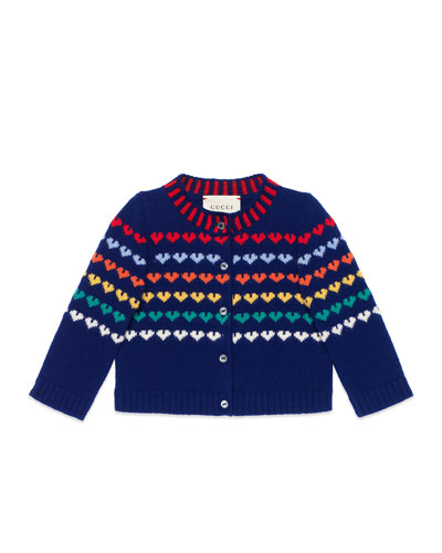 Long-Sleeve Heart Cardigan, Size 12-36 Months