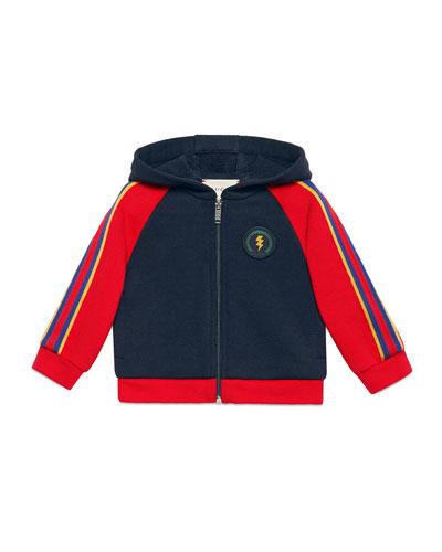Lightning & Web Trim Hooded Sweatshirt, Size 6-36 Months