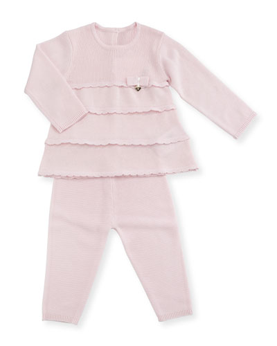 Knit Tiered Dress w/ Leggings, Size 1-9 Months