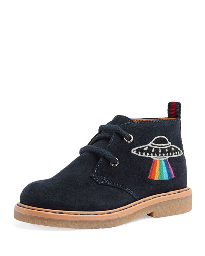 Embroidered Suede Bootie, Toddler