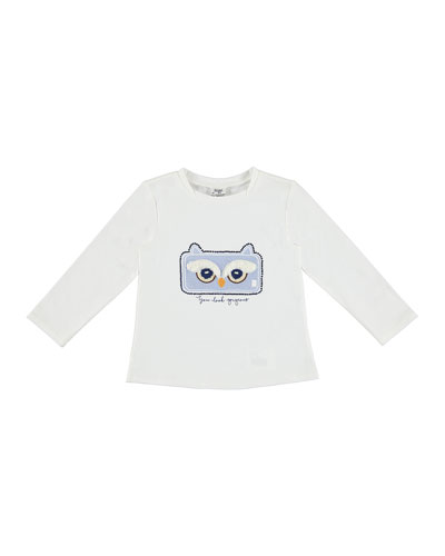 Long-Sleeve Owl Tee, Size 3-7