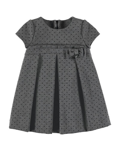 Dotted Short-Sleeve Dress, Size 3-7
