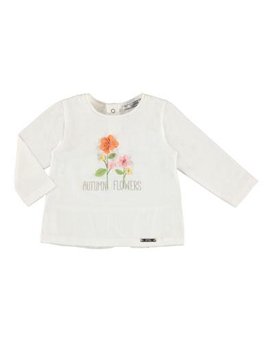 Long-Sleeve Autumn Flowers T-Shirt, Size 6-36 Months