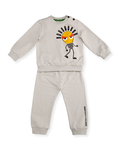 Light Bulb Sweatshirt w/ Joggers, Size 12-24 Months