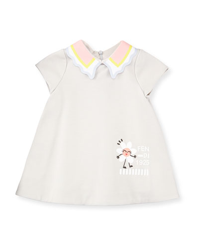 A-Line Scalloped Collar Dress, Size 12-24 Months