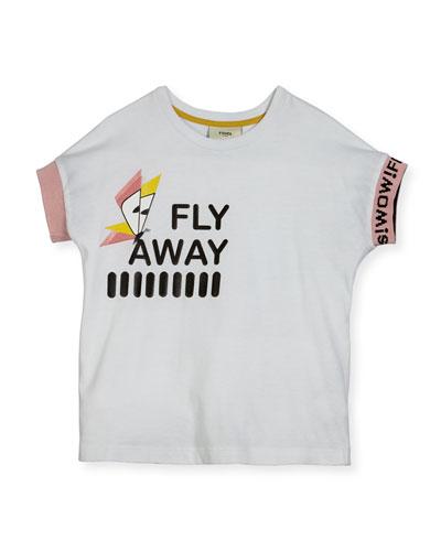 Girls' Short-Sleeve Fly Away T-Shirt, Size 6-8