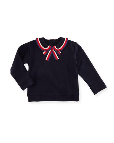 Sylvie Web Bow Sweatshirt, Size 9-36 Months