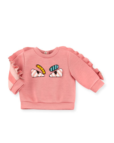 Infant Girls' Monster Eyes Sweatshirt, Size 12-24 Months