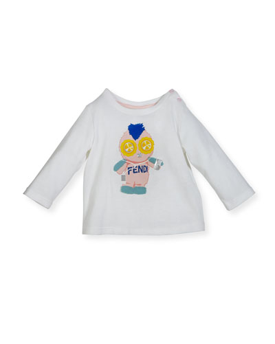 Infant Girls' Long-Sleeve Fendirumi Graphic T-Shirt, Size 12-24 Months